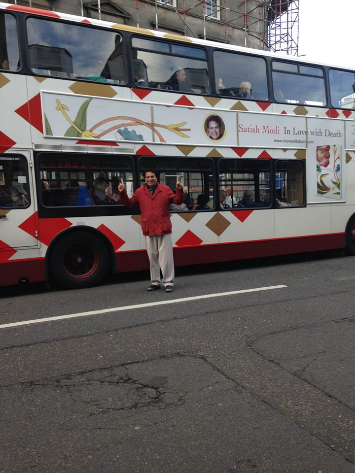 A Lothian bus carrying the book panels