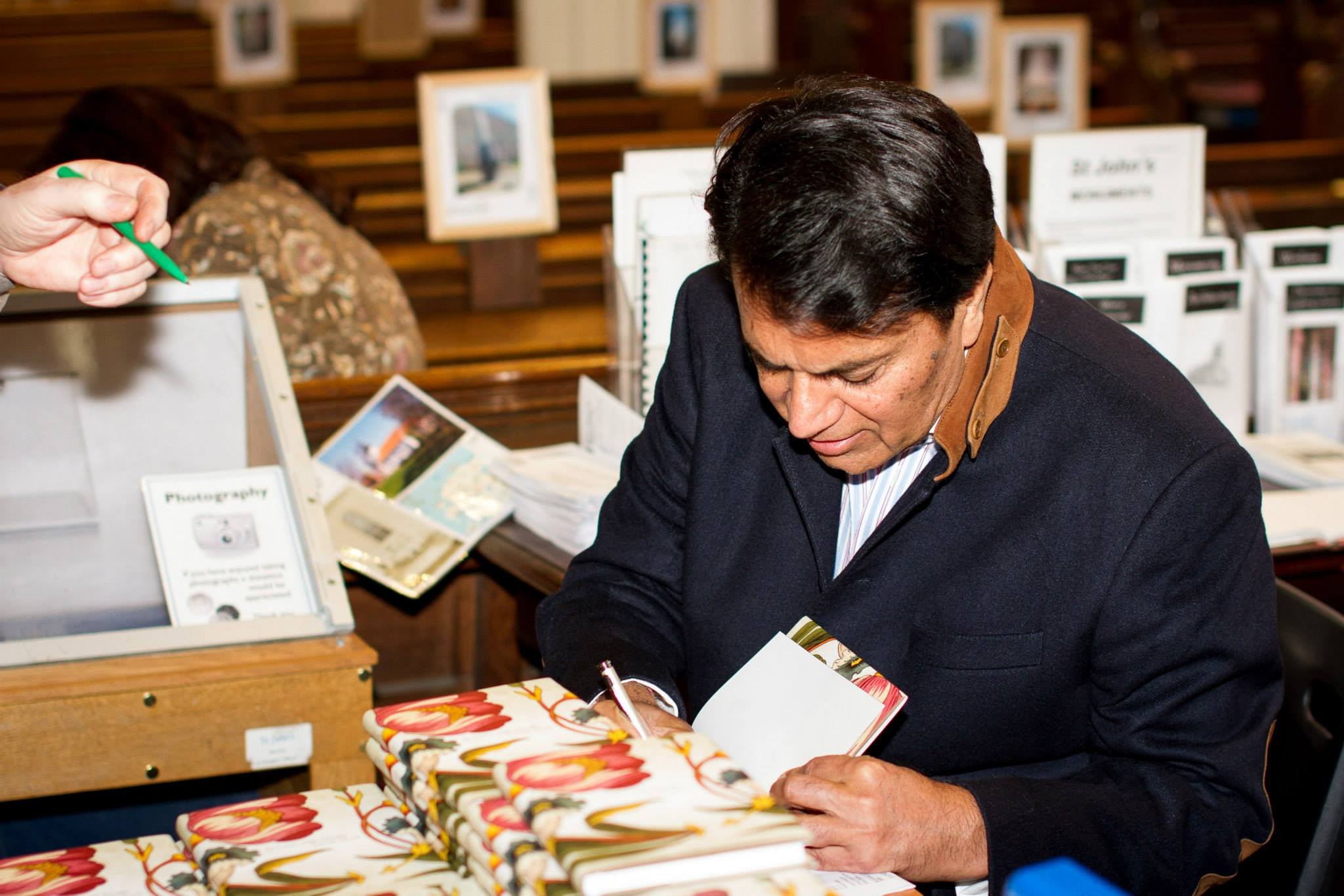 Book signing at the festival